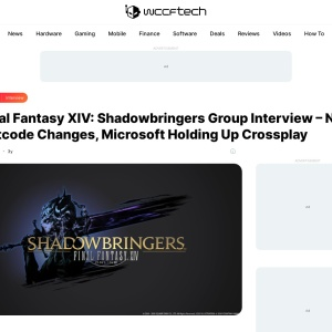 Final Fantasy XIV: Shadowbringers Group Interview - No Netcode Changes, Microsoft Holding Up Crossplay