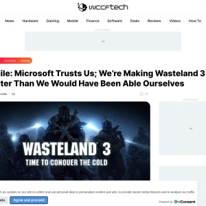 inXile: Microsoft Trusts Us; We're Making Wasteland 3 Better Than We Would Have Been Able Ourselves