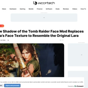 New Shadow of the Tomb Raider Face Mod Replaces Lara's Face Texture to Resemble the Original Lara