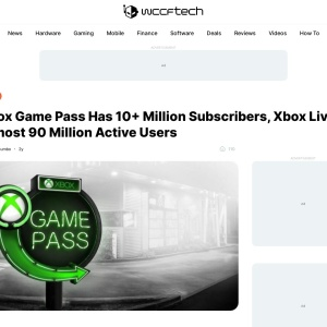 Xbox Game Pass Has 10+ Million Subscribers, Xbox Live Almost 90 Million Active Users