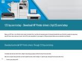 123.hp.com/setup- Download HP Printer drivers