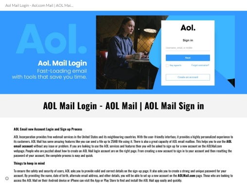 Simple Steps to Log-in to AOL Email Account