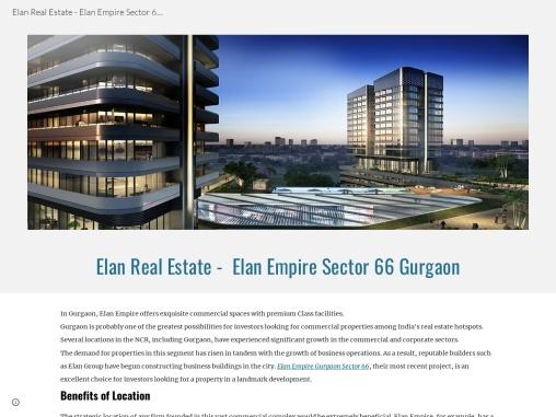 Elan Real Estate – Elan Empire Sector 66 Gurgaon
