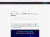 How to Build An SEO-Friendly Ecommerce Website