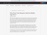 Why Does Your Business Need Its Mobile App Now?