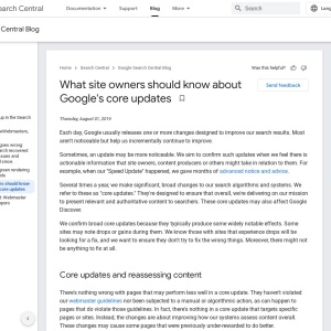 Official Google Webmaster Central Blog: What webmasters should know about Google's core updates