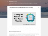 7 Things To Feature On Your Author Website