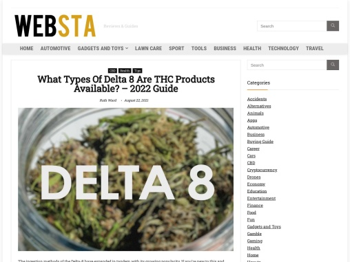 The Types of Delta 8 THC Products Available Online