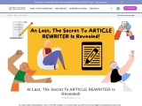 What You Should Have Asked Your Teachers About ARTICLE REWRITER