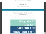 Why, What and How of — Backends For Frontends (BFF)