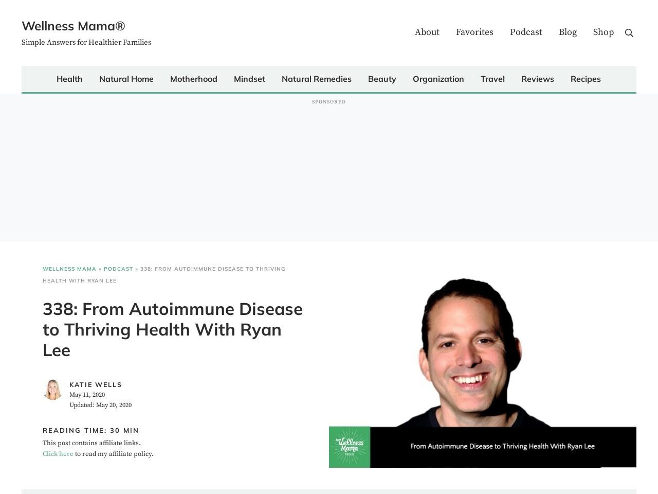 Autoimmune Disease to Thriving Health With Ryan Lee