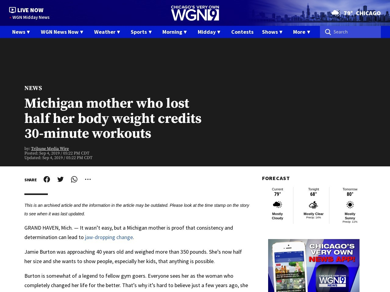 Michigan mother who lost half her body weight credits 30-minute…