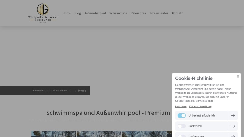 whirlpoolcenter-weeze.de Vorschau, Whirlpoolcenter Weeze - Inh. Christian Gerstmann