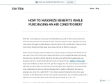 How To Maximize Benefits While Purchasing An AirConditioner?