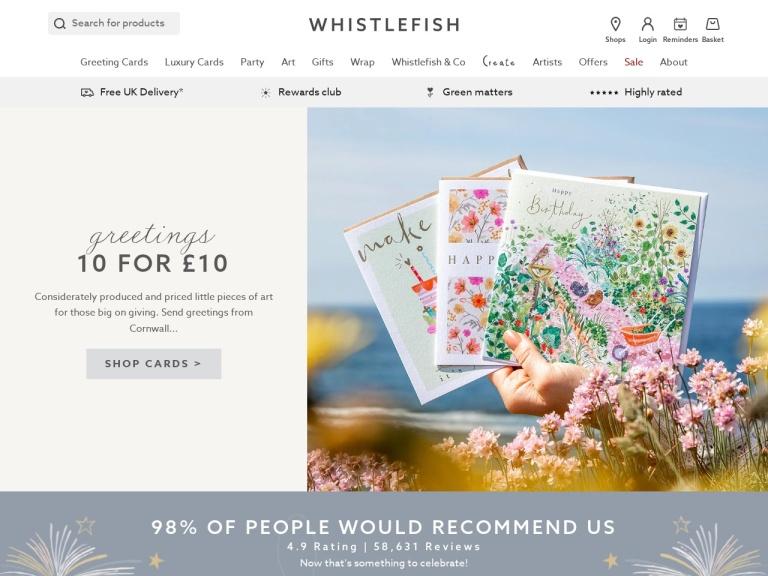 Whistlefish Discount Codes screenshot