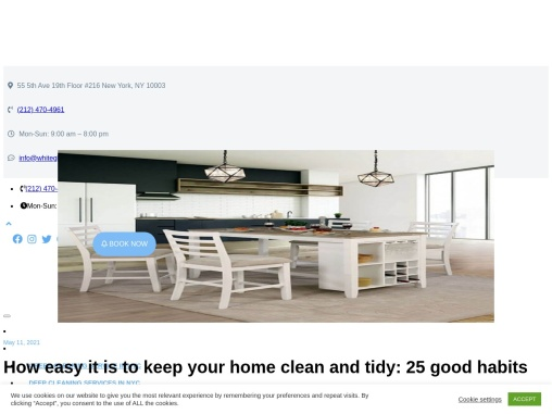 How easy it is to keep your home clean and tidy: 25 good habits