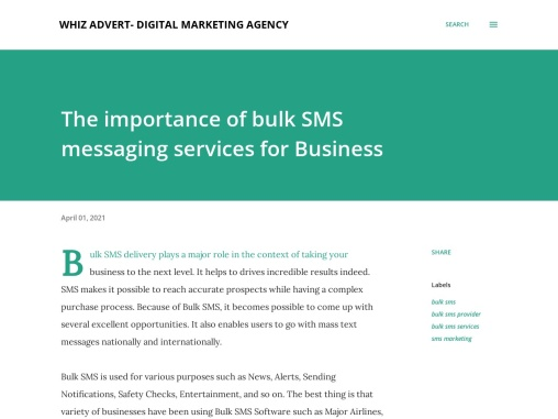 The importance of bulk SMS messaging services for Business