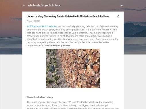 Buff Beach Pebbles – Wholesale Stone Solutions