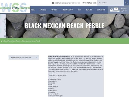 Black Beach Pebbles – Wholesale Stone Solutions