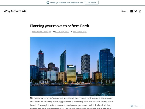 Planning your move to or from Perth