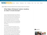 Wholesale Fashion Jewellery – Crazy Tips to Start a Ladies Wholesale Fashion Jewellery Business
