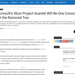 Microsoft's Xbox Project Scarlett Will Be One Console, Not the Rumored Two - WinBuzzer