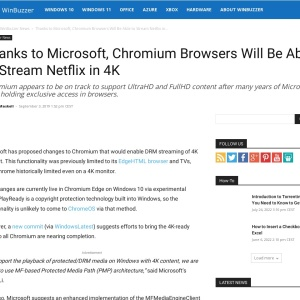 Thanks to Microsoft, Chromium Browsers Will Be Able to Stream Netflix in 4K - WinBuzzer
