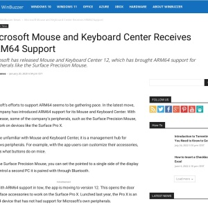 Microsoft Mouse and Keyboard Center Receives ARM64 Support - WinBuzzer