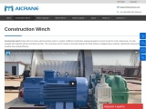 Different Models of Construction Winch for Sale