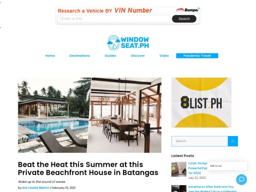 Beat the Heat this Summer at this Private Beachfront House in Batangas