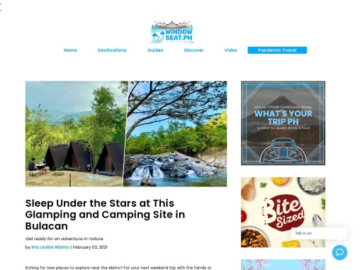 Sleep Under the Stars at This Glamping and Camping Site in Bulacan
