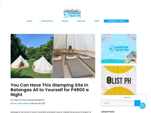 You Can Have This Glamping Site in Batangas All to Yourself for P4900 a Night