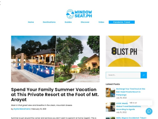 Spend Your Family Summer Vacation at This Private Resort at the Foot of Mt. Arayat