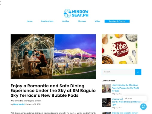 Enjoy a Romantic and Safe Dining Experience Under the Sky at SM Baguio Sky Terrace's New Bubble Pods