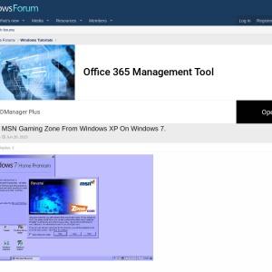 MSN Gaming Zone From Windows XP On Windows 7. | Windows Forum