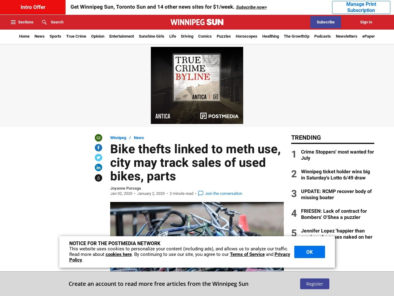 Bike thefts linked to meth use, city may track sales of used bikes, parts
