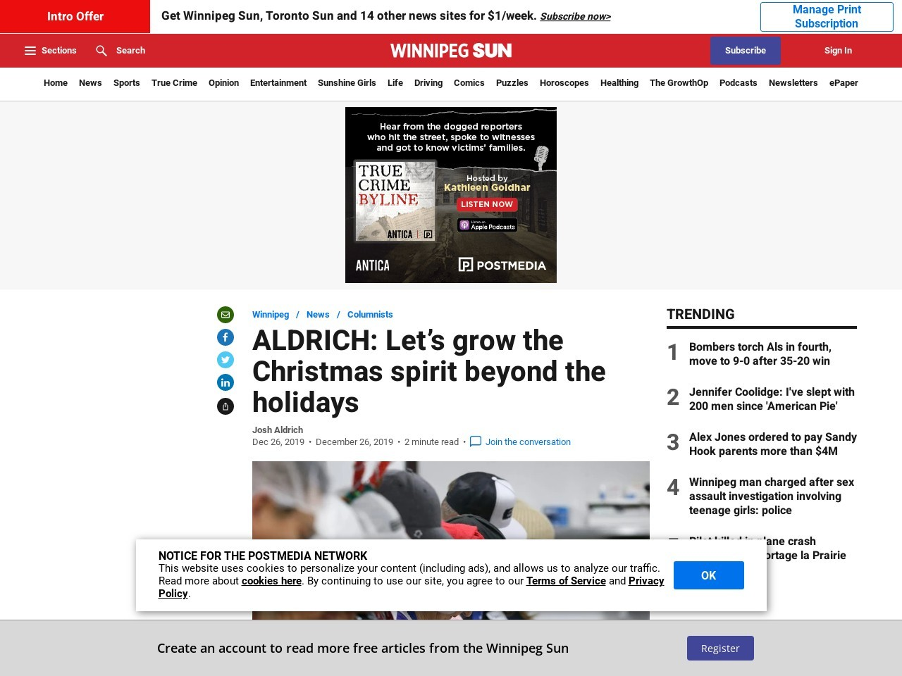 ALDRICH: Let's grow the Christmas spirit beyond the holidays