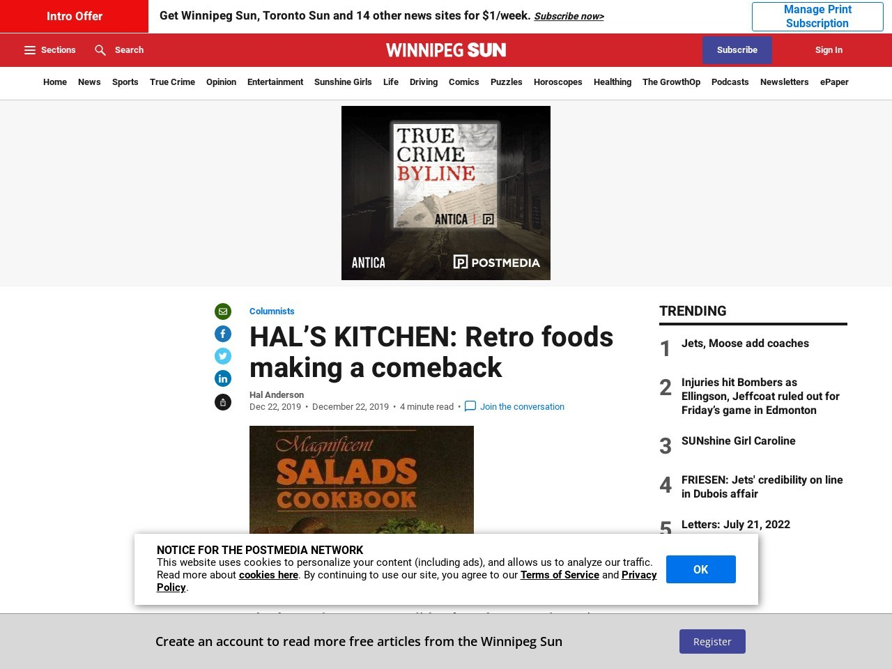 HAL'S KITCHEN: Retro foods making a comeback