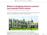 BTech: A stepping stone to convert your passion into a career