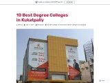 10 Best Degree Colleges in Kukatpally