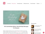 100 Cute Birthday Wishes   Best Birthday Messages For Everyone
