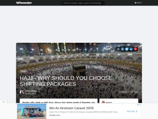 HAJJ – WHY SHOULD YOU CHOOSE SHIFTING PACKAGES