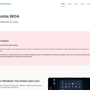 Lumia WOA Project