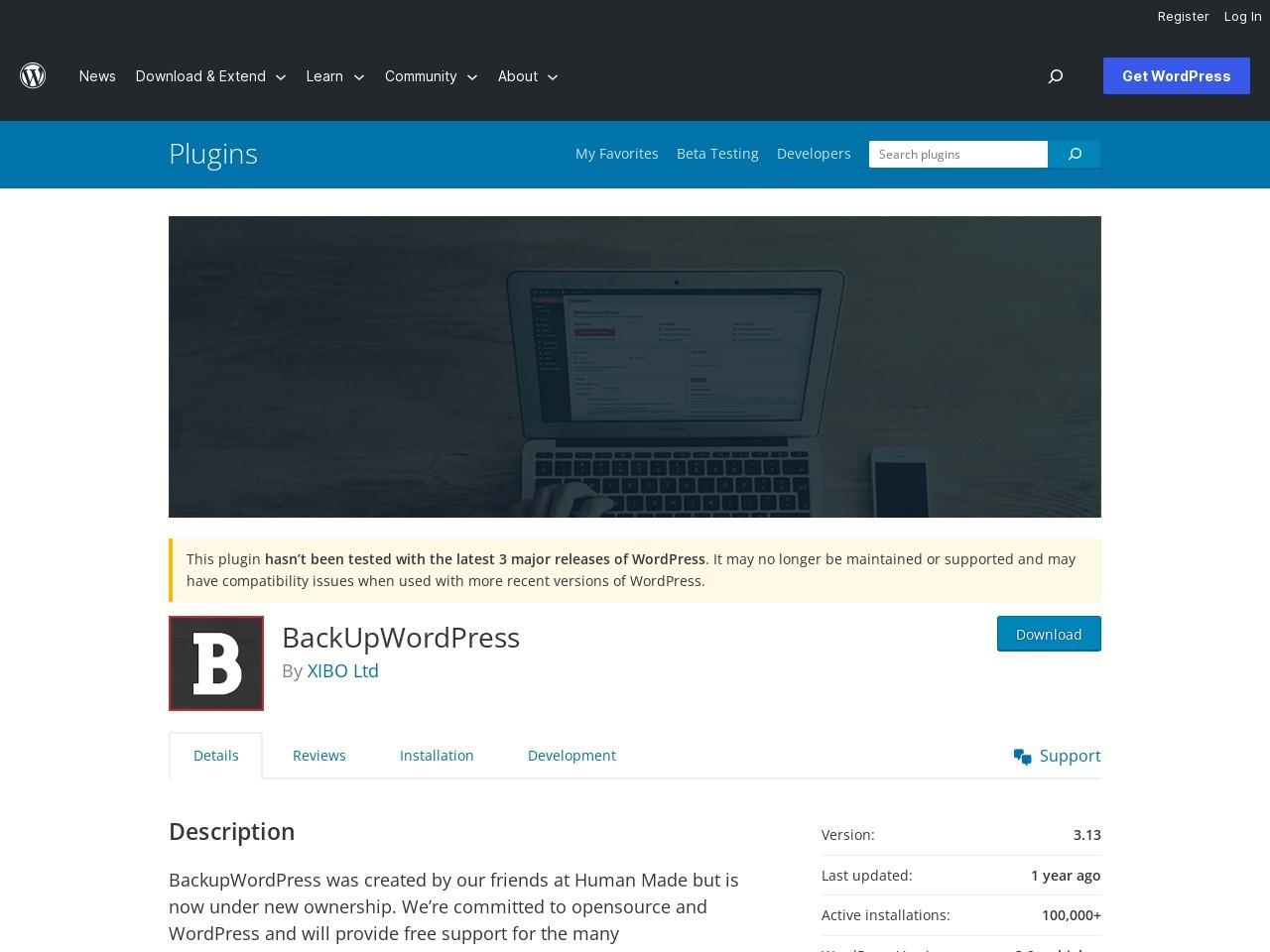 BackUpWordPress