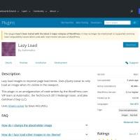 WordPress › Lazy Load « WordPress Plugins