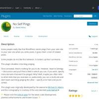 WordPress › No Self Pings « WordPress Plugins