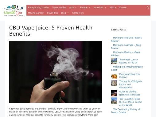 5 Proven Health Benefits of CBD Vape Juice