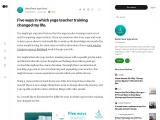 Five ways in which yoga teacher training changed my life.