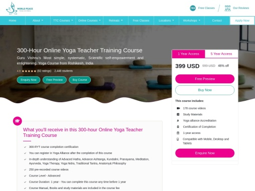 300-Hour Online Yoga Teacher Training Course