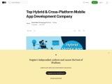 Top Hybrid & Cross-Platform Mobile App Development Company   by World Web Technology   Jul, 2021   Medium